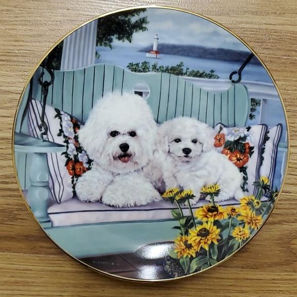 Danbury Mint Accents Swing Set Porcelain Plate Bichon Frise Poshmark